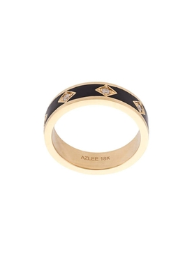18kt gold night sky ring