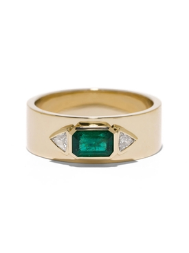 Azlee - Emerald Nesw Diamond Ring - Women