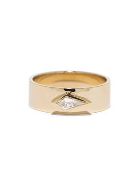 Azlee - Kite 18k Yellow Gold & Diamond Ring - Fine Rings