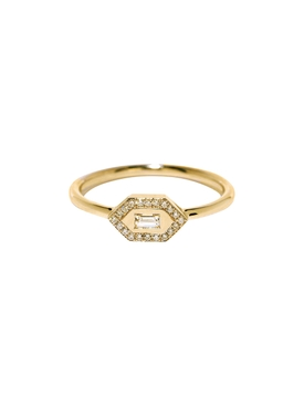 SMALL 18KT GOLD & DIAMOND RING