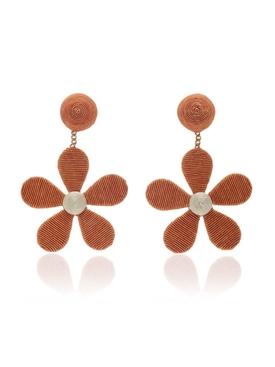 Daisy cord slip earrings