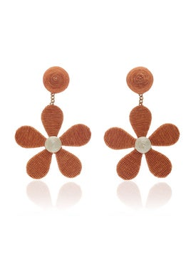 Rebecca De Ravenel - Daisy Cord Slip Earrings - Women