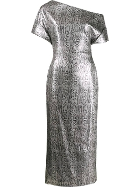 Sequined Snake-Print Dress