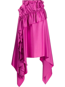 Christopher Kane - Magenta Asymmetric Ruffle Skirt - Women