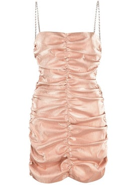 Area - Nude Ruched Mini Dress - Women
