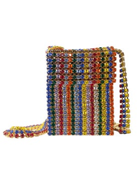 Area - Crystal Flapper Mini Bag, Multicolor - Women