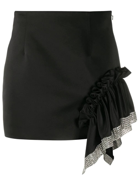 Embellished trim mini skirt