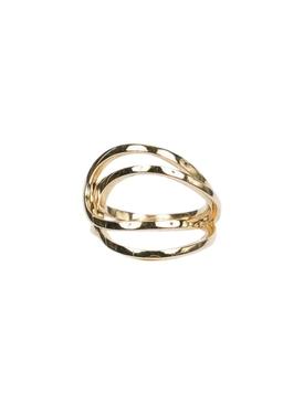 La Ligne C Double-Hoop Ring GOLD