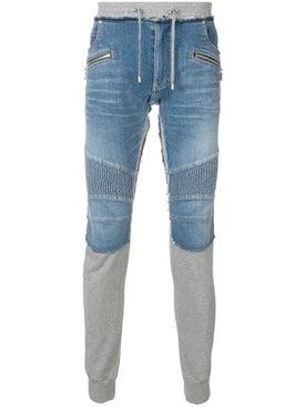 Balmain - Mixed Fabric Track Pants - Men