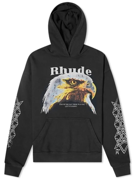 Bald eagle hoodie black