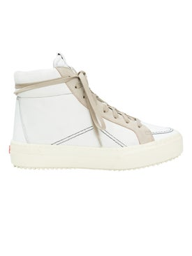 Rhude - V1 White Leather And Suede High Top Sneakers - Men