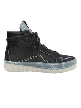 Rhude - V1 Black High Top Translucent Sole Sneakers - Men
