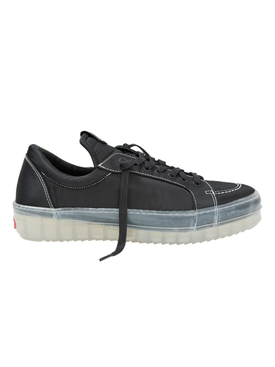 Rhude - V1 Black Low Top Translucent Sole Sneakers - Men