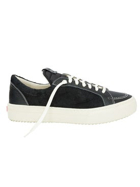 Rhude - V1 Black Leather And Suede Low Top Sneakers - Men