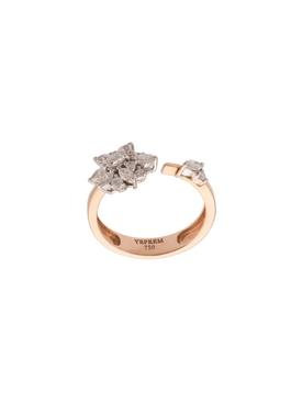 18kt rose gold floral diamond ring