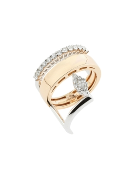 Two Band Diamond Ring
