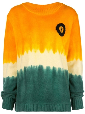 Multicolored tie-dye cashmere  sweatshirt