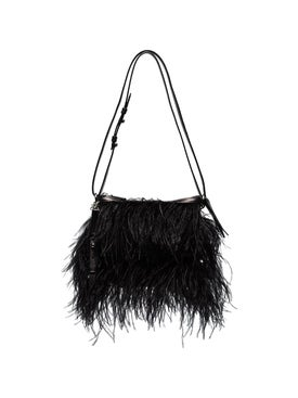 Marques'almeida - Ostrich Feather Shoulder Bag Black - Women