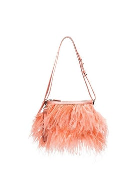 Marques'almeida - Ostrich Feather Shoulder Bag Pink - Women