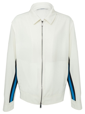 Contrasting side stripe jacket WHITE