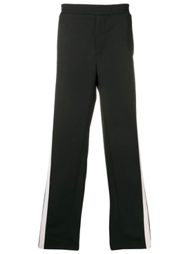 mesh side stripe track pants