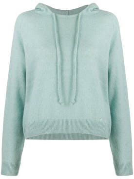 Lanvin - Blue Hooded Sweater - Women