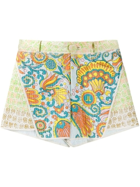 Lanvin - Flower Swirl Paneled Shorts - Women