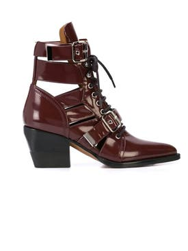 Chloé - Red Rylee Ankle Boots - Women