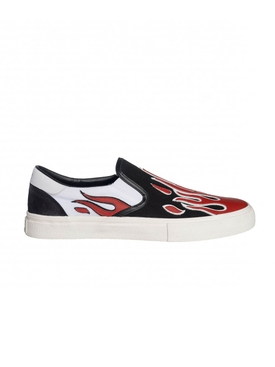 FLAME SLIP ON SNEAKERS RED