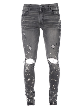 Bleach splatter effect jeans FADED GREY