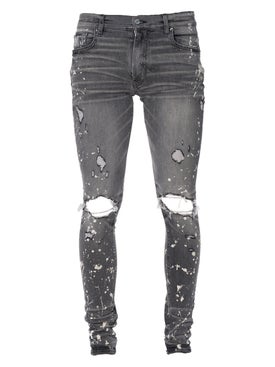 Amiri - Bleach Splatter Effect Jeans Faded Grey - Men