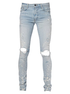 Amiri - Bleach Splatter Effect Jeans Light Indigo - Men