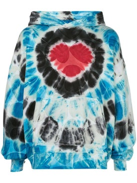 Amiri - Over-sized Heart Tie Dye Hoodie - Hoodies