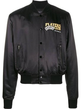 Amiri - Players Club Bomber Jacket Black - Short