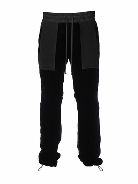 Velvet commando sweatpants BLACK
