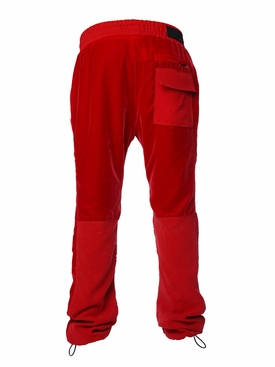 Velvet commando sweatpants RED