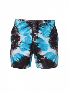 Tie dye hearts swimming trunks