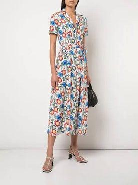 Hvn - Floral Print Dress - Mid-length