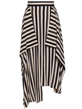Beige and black panel skirt