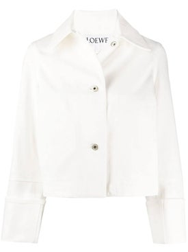 Loewe - White Cropped Jacket - Women