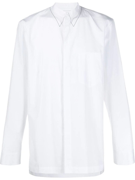 White faux collar buttoned shirt