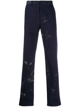 Navy paint splatter pants