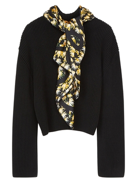 Daisy print scarf sweater