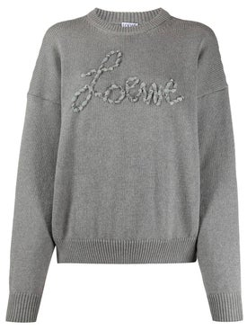 Loewe - Grey Ribbon Logo Sweater - Women