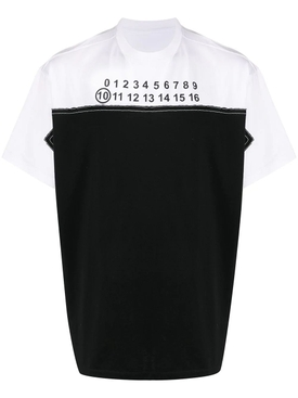 Maison Margiela - Black And White Numerical Logo T-shirt - Men