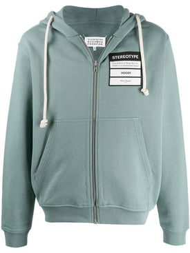 Maison Margiela - Stereotype Drawstring Hoodie Grey - Men