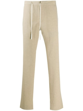 Off-center drawstring trousers