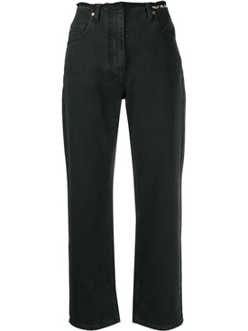 Embroidered V jeans