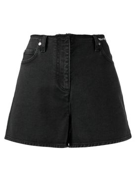 Valentino - High-waisted Denim Shorts - Women