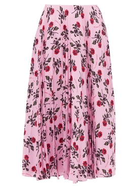 Floral print mid-length skirt PINK